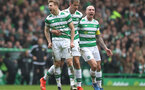 GLASGOW, SCOTLAND - MARCH 12:  Stuart Armstrong of Celtic celebrates scoring his sides first goal with his Celtic team mates during the Ladbrokes Scottish Premiership match between Celtic and Rangers at Celtic Park on March 12, 2017 in Glasgow, Scotland.  (Photo by Ian MacNicol/Getty Images)