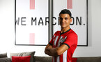 SOUTHAMPTON, ENGLAND - JUNE 28:  Mohamed Elyounoussi of Southampton FC during a Signing photoshoot pictured on June 28, 2018 at Staplewood Complex in Southampton, England. (Photo by James Bridle - Southampton FC/Southampton FC via Getty Images)