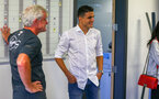 SOUTHAMPTON, ENGLAND - JUNE 28: Southampton FC look to sign Mohamed Elyounoussi as he meets management staff ahead of his signing his contract pictured on June 28, 2018 at Staplewood Complex in Southampton, England. (Photo by James Bridle - Southampton FC/Southampton FC via Getty Images)