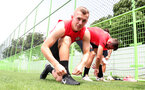 James Ward-Prowse during the first training session of Southampton FC's pre-season tour of China, at the Kunshan training facility, Kunshan, Shanghai, China, 2nd July 2018