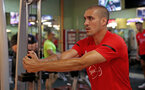 Oriol Romeu during a gym session of Southampton FC's pre-season tour of China, at the Kunshan training facility, Kunshan, Shanghai, China, 2nd July 2018