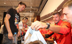 SHANGHAI, CHINA - JULY 06: Southampton FC players visit the Under Armour store while on their pre season tour of China, Fraser Forster pictured with a fan, on July 6, 2018 in Shanghai, China. (Photo by Matt Watson/Southampton FC via Getty Images)