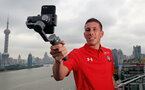 SHANGHAI, CHINA - JULY 06: Pierre-Emile Hojbjerg pictured on a rooftop terrace as Southampton FC players visit Shanghai centre while on their pre season tour of China, on July 6, 2018 in Shanghai, China. (Photo by Matt Watson/Southampton FC via Getty Images)