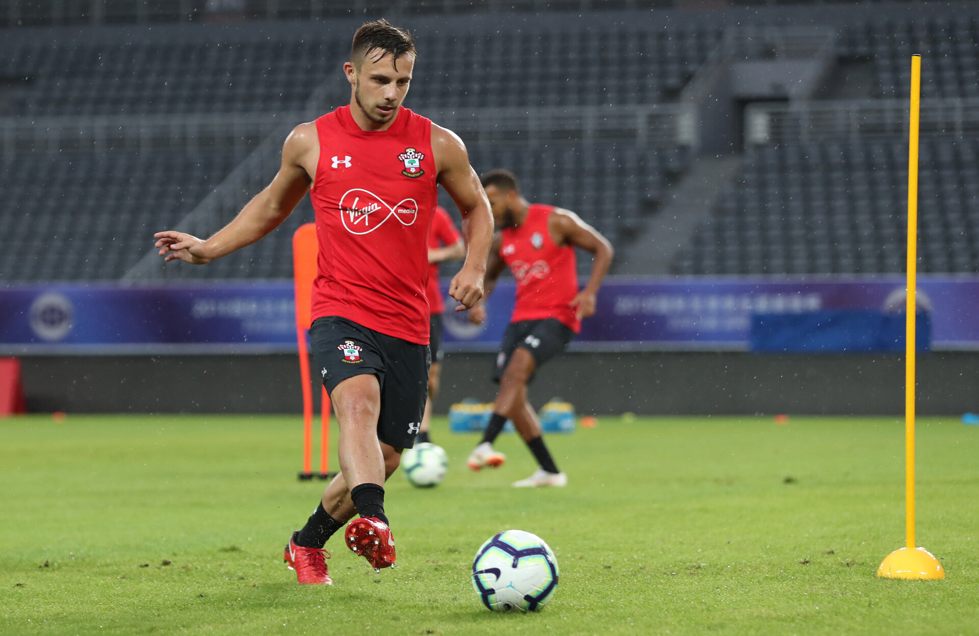 SHANGHAI, CHINA - JULY 09: Jake Flannigan during a Southampton FC training session, while on their pre season tour of China, on July 9, 2018 in Xuzhou, China. (Photo by Matt Watson/Southampton FC via Getty Images)