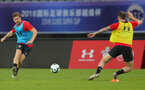 SHANGHAI, CHINA - JULY 09: Stuart Armstrong during a Southampton FC training session, while on their pre season tour of China, on July 6, 2018 in Xuzhou, China. (Photo by Matt Watson/Southampton FC via Getty Images)