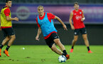 SHANGHAI, CHINA - JULY 09: Oriol Romeu during a Southampton FC training session, while on their pre season tour of China, on July 6, 2018 in Xuzhou, China. (Photo by Matt Watson/Southampton FC via Getty Images)