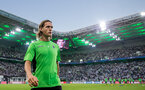 MOENCHENGLADBACH, GERMANY - AUGUST 24: Jannik Vestergaard of Moenchengladbach leaves the pitch prior the UEFA Champions League Qualifying Play-Offs Round: Second Leg between Borussia Moenchengladbach and YB Bern at Borussia-Park on August 24, 2016 in Moenchengladbach, Germany. (Photo by Maja Hitij/Bongarts/Getty Images)