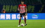 XUZHOU, CHINA - JULY 11: Wesley Hoedt of Southampton during the 2018 Club Super Cup pre-season match between Southampton FC and Jiangsu suning FC, on July 11, 2018 in Xuzhou, China. (Photo by Matt Watson/Southampton FC via Getty Images)