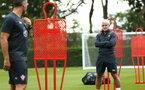 SOUTHAMPTON, ENGLAND - JULY 17: Mark Hughes (right) during a Southampton FC training session at Staplewood Complex on July 17, 2018 in Southampton, England. (Photo by James Bridle - Southampton FC/Southampton FC via Getty Images)