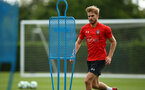 SOUTHAMPTON, ENGLAND - JULY 17: Stuart Armstrong during a Southampton FC training session at Staplewood Complex on July 17, 2018 in Southampton, England. (Photo by James Bridle - Southampton FC/Southampton FC via Getty Images)