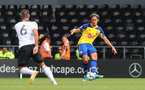 DERBY, ENGLAND - JULY 21: Jannik Vestergaard of Southampton during the pre-season friendly match between Derby County and Southampton at Pride Park on July 21, 2018 in Derby, England. (Photo by Matt Watson/Southampton FC via Getty Images)