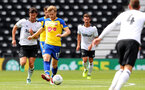 DERBY, ENGLAND - JULY 21: Stuart Armstrong of Southampton during the pre-season friendly match between Derby County and Southampton at Pride Park on July 21, 2018 in Derby, England. (Photo by Matt Watson/Southampton FC via Getty Images)