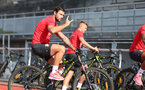 EVIAN-LES-BAINS, FRANCE - JULY 23: Charlie Austin as Southampton FC take part in their first day of their pre-season training camp, on July 23, 2018 in Evian-les-Bains, France. (Photo by Matt Watson/Southampton FC via Getty Images)