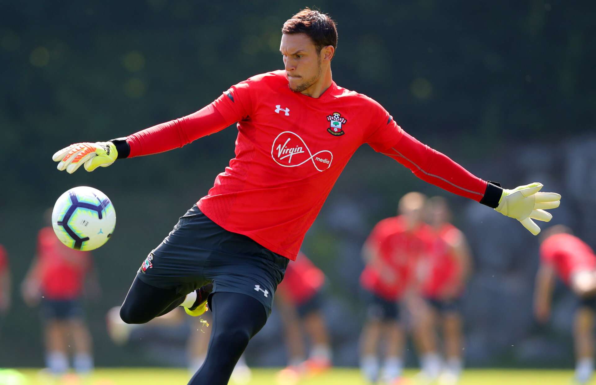 EVIAN-LES-BAINS, FRANCE - JULY 24: Alex McCarthy during day 2 of Southampton FC's pre-season training camp on July 24, 2018 in Evian-les-Bains, France. (Photo by Matt Watson/Southampton FC via Getty Images)
