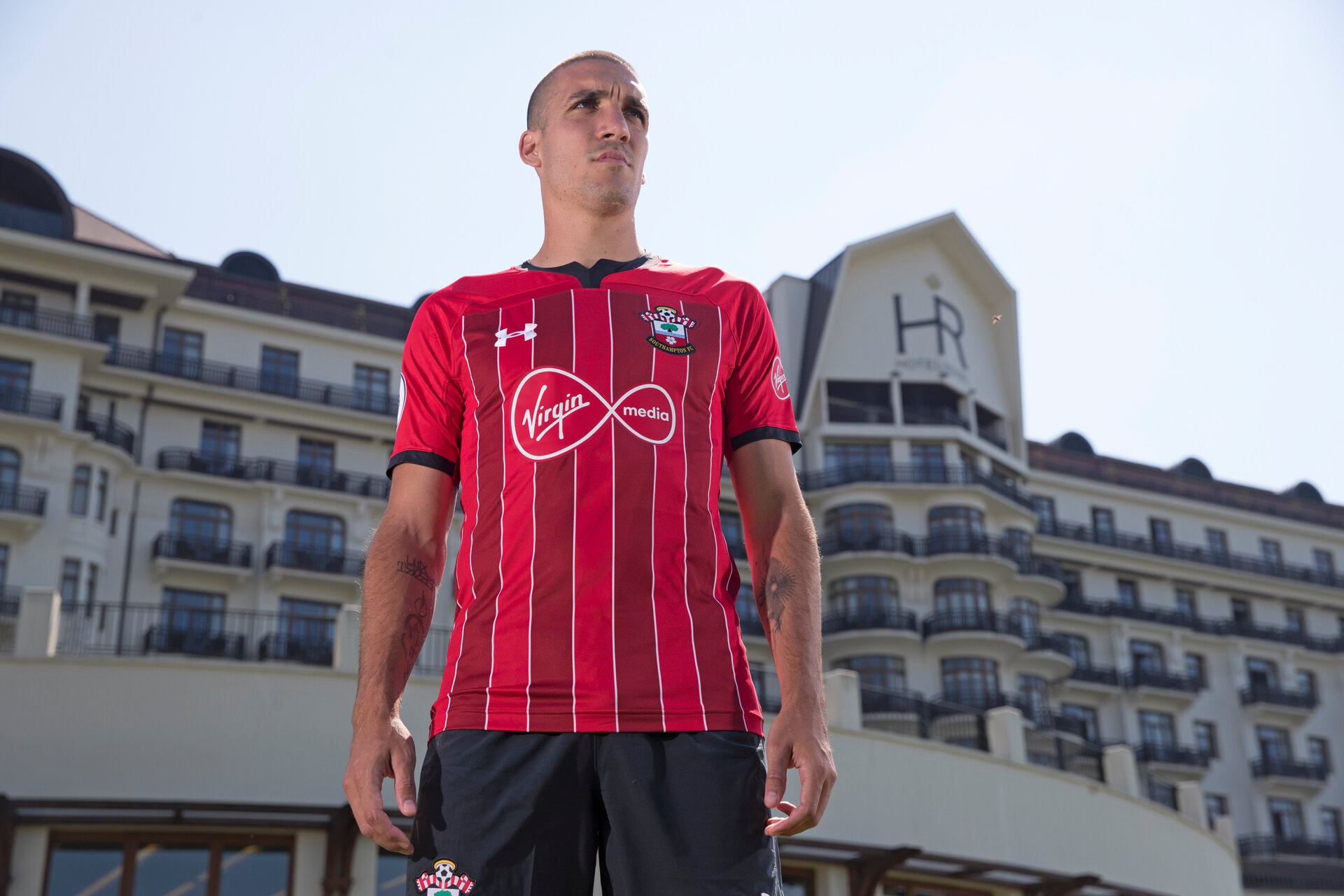 EVIAN-LES-BAINS, FRANCE - JULY 24: Oriol Romeu pictured in Southampton FC's third kit, at the Hotel Royal during day 2 of Southampton FC's pre-season training camp on July 24, 2018 in Evian-les-Bains, France. (Photo by Matt Watson/Southampton FC via Getty Images)