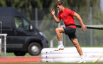 EVIAN-LES-BAINS, FRANCE - JULY 25: Sam Gallagher during day 3 of Southampton FC's pre-season training camp, on July 25, 2018 in Evian-les-Bains, France. (Photo by Matt Watson/Southampton FC via Getty Images)