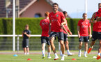 EVIAN-LES-BAINS, FRANCE - JULY 27: Wesley Hoedt during Southampton FC's pre season training camp, on July 27, 2018 in Evian-les-Bains, France. (Photo by Matt Watson/Southampton FC via Getty Images)