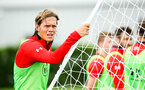 SOUTHAMPTON, ENGLAND - JULY 30: Jannik Vestergaard (left) during a Southampton FC training sessions at Staplewood Complex on July 30, 2018 in Southampton, England. (Photo by James Bridle - Southampton FC/Southampton FC via Getty Images)