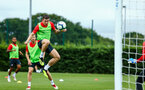 SOUTHAMPTON, ENGLAND - JULY 30: Pierre-Emile H¿jbjerg (left) during a Southampton FC training sessions at Staplewood Complex on July 30, 2018 in Southampton, England. (Photo by James Bridle - Southampton FC/Southampton FC via Getty Images) SOUTHAMPTON, ENGLAND - JULY 30: Pierre-Emile Højbjerg (left) during a Southampton FC training sessions at Staplewood Complex on July 30, 2018 in Southampton, England. (Photo by James Bridle - Southampton FC/Southampton FC via Getty Images)