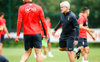 SOUTHAMPTON, ENGLAND - JULY 30: Mark Hughes (right) during a Southampton FC training sessions at Staplewood Complex on July 30, 2018 in Southampton, England. (Photo by James Bridle - Southampton FC/Southampton FC via Getty Images)