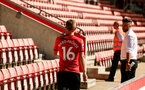 SOUTHAMPTON, ENGLAND - JULY 31: James Ward-Prowse during a BTS view at a Southampton FC Photoshoot at St Mary's Stadium on July 31, 2018 in Southampton, England. (Photo by James Bridle - Southampton FC/Southampton FC via Getty Images)