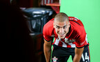 SOUTHAMPTON, ENGLAND - JULY 31: Oriol Romeu during a BTS view at a Southampton FC Photoshoot at St Mary's Stadium on July 31, 2018 in Southampton, England. (Photo by James Bridle - Southampton FC/Southampton FC via Getty Images)
