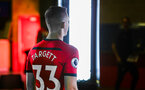 SOUTHAMPTON, ENGLAND - JULY 31: Matt Target during a BTS view at a Southampton FC Photoshoot at St Mary's Stadium on July 31, 2018 in Southampton, England. (Photo by James Bridle - Southampton FC/Southampton FC via Getty Images)