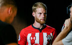 SOUTHAMPTON, ENGLAND - JULY 31: Josh Sims during a BTS view at a Southampton FC Photoshoot at St Mary's Stadium on July 31, 2018 in Southampton, England. (Photo by James Bridle - Southampton FC/Southampton FC via Getty Images)