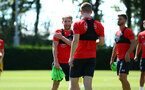 SOUTHAMPTON, ENGLAND - AUGUST 03: Josh Sims (Middle) during a Southampton FC training session at Staplewood Complex on August 3, 2018 in Southampton, England. (Photo by James Bridle - Southampton FC/Southampton FC via Getty Images)