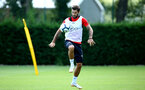 SOUTHAMPTON, ENGLAND - AUGUST 03: Charlie Austin during a Southampton FC training session at Staplewood Complex on August 3, 2018 in Southampton, England. (Photo by James Bridle - Southampton FC/Southampton FC via Getty Images)