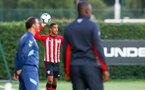 SOUTHAMPTON, ENGLAND - AUGUST 10: Yan Valery (middle) during the PL2 match between Southampton FC vs Middlesbrough FC pictured at Staplewood Complex on August 10, 2018 in Southampton, England. (Photo by James Bridle - Southampton FC/Southampton FC via Getty Images)