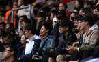 SOUTHAMPTON, ENGLAND - AUGUST 12: Chinese students support Southampton during the Premier League match between Southampton FC and Burnley FC at St Mary's Stadium on August 12, 2018 in Southampton, United Kingdom. (Photo by Chris Moorhouse/Southampton FC via Getty Images)