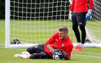 SOUTHAMPTON, ENGLAND - AUGUST 14: Fraser Forster during a Southampton FC training session at the Staplewood Campus on August 14, 2018 in Southampton, England. (Photo by Matt Watson/Southampton FC via Getty Images)