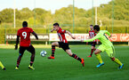 SOUTHAMPTON, ENGLAND - AUGUST 14: Jake Hesketh (middle) during the U23 International Cup match between Southampton FC vs Dinamo Zagreb pictured at Staplewood Complex on August 14, 2018 in Southampton, England. (Photo by James Bridle - Southampton FC/Southampton FC via Getty Images)