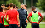 SOUTHAMPTON, ENGLAND - AUGUST 15: Kelvin Davis pictured coaching an U23s Training session (middle) at Staplewood Complex on August 15, 2018 in Southampton, England. (Photo by James Bridle - Southampton FC/Southampton FC via Getty Images)