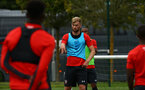 SOUTHAMPTON, ENGLAND - AUGUST 15: Aaron O'driscoll (middle) pictured at Staplewood Complex on August 15, 2018 in Southampton, England. (Photo by James Bridle - Southampton FC/Southampton FC via Getty Images)