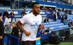 LIVERPOOL, ENGLAND - AUGUST 18: Ryan Bertrand of Southampton warms up ahead of the Premier League match between Everton FC and Southampton FC at Goodison Park on August 18, 2018 in Liverpool, United Kingdom. (Photo by Matt Watson/Southampton FC via Getty Images)