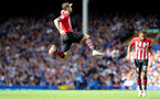 LIVERPOOL, ENGLAND - AUGUST 18: Danny Ings of Southampton celebrates during the Premier League match between Everton FC and Southampton FC at Goodison Park on August 18, 2018 in Liverpool, United Kingdom. (Photo by Matt Watson/Southampton FC via Getty Images)