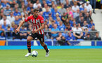 LIVERPOOL, ENGLAND - AUGUST 18: Jack Stephens of Southampton during the Premier League match between Everton FC and Southampton FC at Goodison Park on August 18, 2018 in Liverpool, United Kingdom. (Photo by Matt Watson/Southampton FC via Getty Images)
