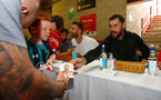 Charlie Austin during a Southampton FC signing session at St Marys Stadium, Southampton, 20th August 2018