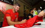 Fraser Forster during a Southampton FC signing session at St Marys Stadium, Southampton, 20th August 2018