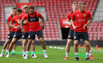 Danny Ings, left. Southampton FC team photo and open training session at St Mary's Stadium, Southampton                                Picture: Chris Moorhouse               Monday 20th August 2018             FOR EDITORIAL USE ONLY