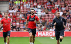 Charlie Austin. Southampton FC team photo and open training session at St Mary's Stadium, Southampton                                Picture: Chris Moorhouse               Monday 20th August 2018             FOR EDITORIAL USE ONLY
