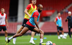 Nathan Redmond. Southampton FC team photo and open training session at St Mary's Stadium, Southampton                                Picture: Chris Moorhouse               Monday 20th August 2018             FOR EDITORIAL USE ONLY