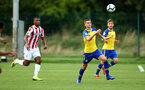 LONDON, ENGLAND - AUGUST 20: LtoR Will Smallbone, Jake Vokins during an U23 Pl2 match between Southampton FC and Stoke City Clayton Training Ground on August 20, 2018 in Stoke, England. (Photo by James Bridle - Southampton FC/Southampton FC via Getty Images)