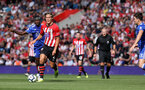 SOUTHAMPTON, ENGLAND - AUGUST 25: Jannik Vestergaard of Southampton during the Premier League match between Southampton FC and Leicester City at St Mary's Stadium on August 25, 2018 in Southampton, United Kingdom. (Photo by Chris Moorhouse/Southampton FC via Getty Images)