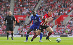 SOUTHAMPTON, ENGLAND - AUGUST 25: Pierre-Emile Hojbjerg(R) of Southampton during the Premier League match between Southampton FC and Leicester City at St Mary's Stadium on August 25, 2018 in Southampton, United Kingdom. (Photo by Matt Watson/Southampton FC via Getty Images)