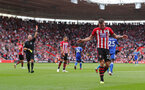 SOUTHAMPTON, ENGLAND - AUGUST 25: Pierre-Emile Hojbjerg of Southampton leaves the pitch after being shown a red card during the Premier League match between Southampton FC and Leicester City at St Mary's Stadium on August 25, 2018 in Southampton, United Kingdom. (Photo by Matt Watson/Southampton FC via Getty Images)