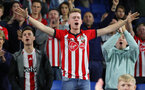 BRIGHTON, ENGLAND - AUGUST 28: fans of Southampton during the Carabao Cup Second Round match between Brighton & Hove Albion and Southampton at American Express Community Stadium on August 28, 2018 in Brighton, England. (Photo by Matt Watson/Southampton FC via Getty Images)