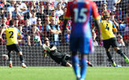 LONDON, ENGLAND - SEPTEMBER 01: Alex McCarthy of Southampton saves during the Premier League match between Crystal Palace and Southampton FC at Selhurst Park on September 1, 2018 in London, United Kingdom. (Photo by Matt Watson/Southampton FC via Getty Images)